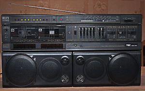 Vintage Boombox Tec 866 RR Am FM Radio Cassette Recorder Player Boombox