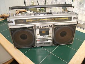 Vintage Sharp GF8585 Portable Boombox Radio Cassette Player
