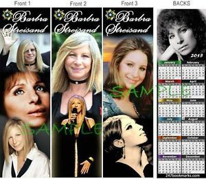 3 Lot Barbra Streisand 2013 Calendar Bookmark Barbara Photo Book Mark Card
