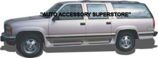 92 99 Chevy Suburban Full Flared Running Boards with Molded Fender Flares