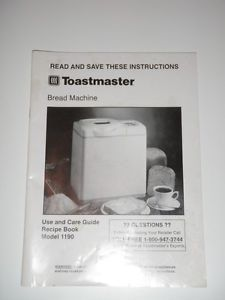toastmaster breadbox breadmaker parts model 1150 instruction manual recipes pdf