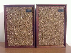 Vintage Wharfedale Bookshelf Speakers Model W20D