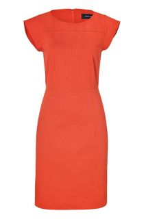Adobe Orange Cotton Dress by DEREK LAM