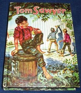 1955 Tom Sawyer Mark Twain Hardback Book Whitman Classics Excellent Cond 8713