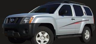 Talon Premium Vinyl 8 Year Decal Stripes Graphics for Nissan Xterra SUV