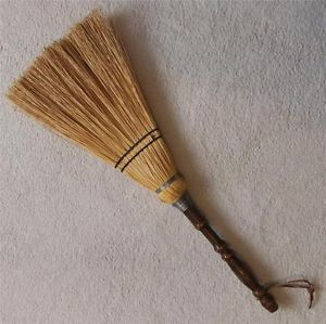"""26"""" Antique Wood Handle Hearth Fireplace Broom Halloween Witch's Broom"""