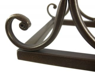 Pair of Metal Wine Bottle Holder Bookends Book Ends Rack