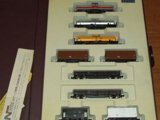 Kato N Scale 701 DD13 Train Set w Engine 7 Cars and Caboose in Collector Case