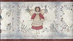 Country Garden Angels Rust Trim Wallpaper Border