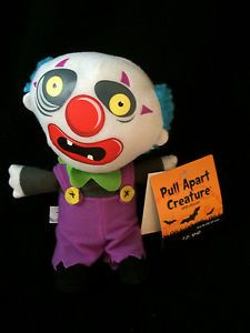 "New 7"" 10"" Plush Pull Apart Halloween Evil Clown Awwwwlllll"