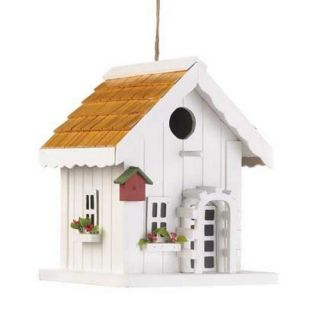 Happy Home Birdhouse Garden Decor Wood Bird House New