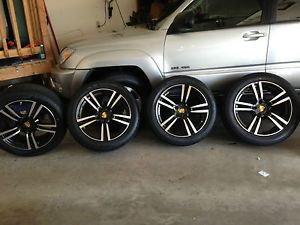 """20"""" Porsche Cayenne Turbo II Style Wheels and Tires Black with Machine Face"""
