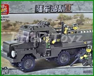Army Personnel Carrier Truck Minifigures Military Building Block Brick 230pc XDB