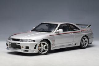 Nissan Skyline GT R R Tune r33 Silver Stripes Autoart