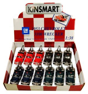 """Kinsmart 1953 Chevy Tow Truck 1 38 Scale 5 1 2"""" Length BL"""
