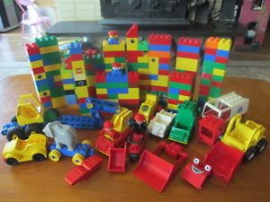 Large Lot Duplo Legos Building Blocks Special Pieces Construction Vehicles
