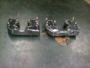 Used Harley XL XLH Ironhead Sportster Engine Parts Chrome Valve Covers w Bolts