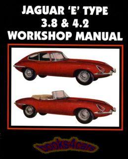 Jaguar XKE Shop Manual E Type Service Repair Book 3 8 4 2 Workshop Clymer Guide