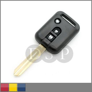 Remote Key Case for Nissan Micra 350Z Pathfinder Navara Replacement Fob 3 Button