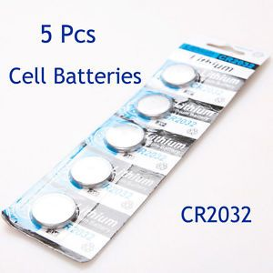 5 Pcs 3V CR2032 DL2032 2032 Lithium Button Coin Cell Batteries for Electronics