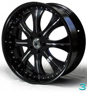 "22"" Custom asanti AF131 Wheels for BMW 7 Series Black Chrome 745 750 760"