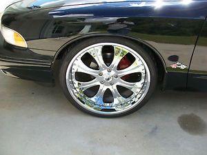 "22"" asanti Chrome Rims Wheels Tires Pkg Fits BMW Range Rover"