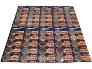 X 50pc Sony CR2032 3V Lithium Battery Button Coin Cell Batteries x 50 CR 2032