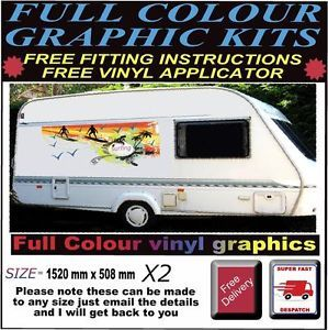 Caravan camper Van Motor Home Decals Graphics Stickers Artwork Vans Full Colour