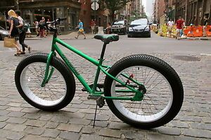 """Sand Snow Fat Tire Cruiser Bicycle The Lunar Bi Rover 4 1 4"""" Knobby Tires"""