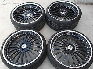 "22"" Black asanti Wheels Tires Rims 5x112 Mercedes S550 CL550 S500 CL500 Audi A8"