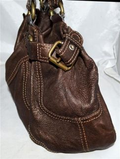 Mania Chocolate Brown Butter Soft Leather Hobo Bag Purse Made in Italy
