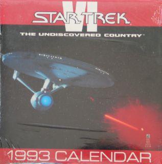 Classic Star Trek VI Movie 1993 Wall Calendar SEALED