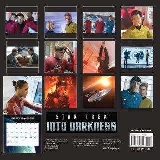 Star Trek Into Darkness Movie 12 Month Stardate 2014 Wall Calendar New SEALED