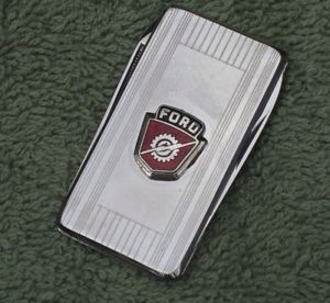 Ford Folding Pen Knife Tool Money Clip with Classic Ford Emblem Badge