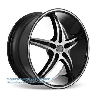 "18"" Velocity VW925 Black Wheel and Tire Package Rims Saturn Scion Suzuki Toyota"