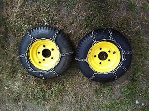 John Deere Snow Blower Wheels Tires Chains 826 1032 Early TRS32 TRS27