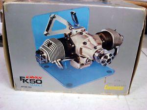 RARE Vintage Kavan FK50 Mark 1 Model RC Four Stroke Twin Engine