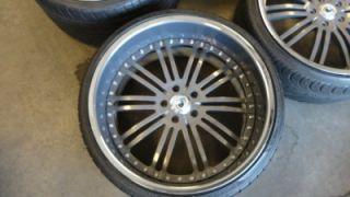 "22"" asanti Custom Painted Grey Chrome 3 Piece Wheels BMW 7 Series 745 750"