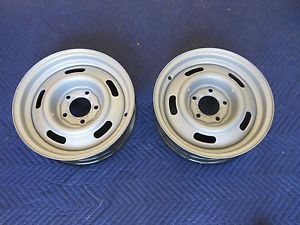 15x4 Aftermarket Chevy Rally Wheels Front Runners Skinneys Hot Rod Race Car