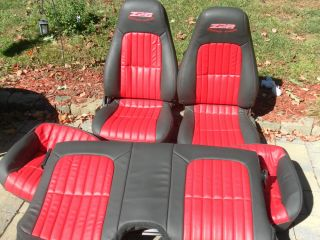 93 2002 96 Z28 Camaro Bucket Seats Set Custom Power Driver Seat
