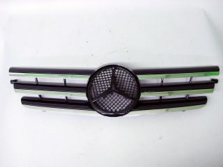 Mercedes Benz W203 New Black Front Center Grille Emblem 02 05 Kompressor Coupe