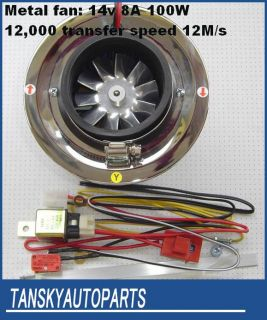 100W Electric turbocharger Turbo Kit supercharger Turbos Superchargers Filter