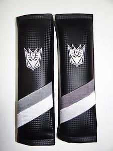 Chevy Camaro Decepticons Seat Belt Shoulder Pads Carbon Fiber Look