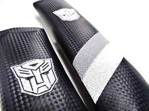 Chevy Camaro Transformers Seat Belt Shoulder Pads Carbon Fiber Look