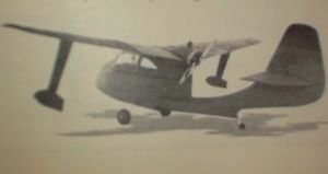 """Republic """"Seabee"""" Flying Boat Model Airplane Plan 48""""Wing Pusher Engine"""