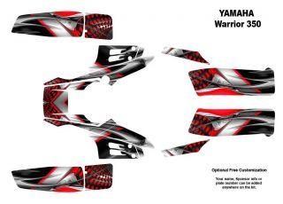 Yamaha Warrior 350 Quad Graphic Decal Sticker Kit 7777RED