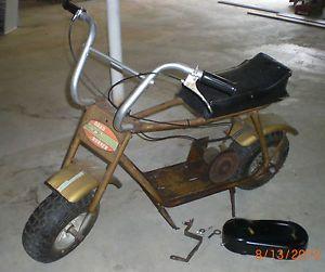 Vintage Mini Bike Minibike Rolling Chassis Frame RARE Road Runner