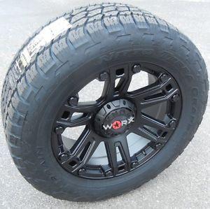 "20"" Black Worx Beast Wheels Rims Nitto Terra Grappler Tires Chevy Tahoe Ford GMC"