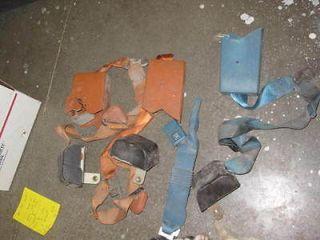 1970s Chevrolet GM Used Seat Belt Shoulder Strap Lot Irwin 763 Blue Brown 462446