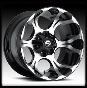 "20"" Fuel Dune Black Machined Wheels Rims Nitto 285 50 20 Terra Grappler Tires"